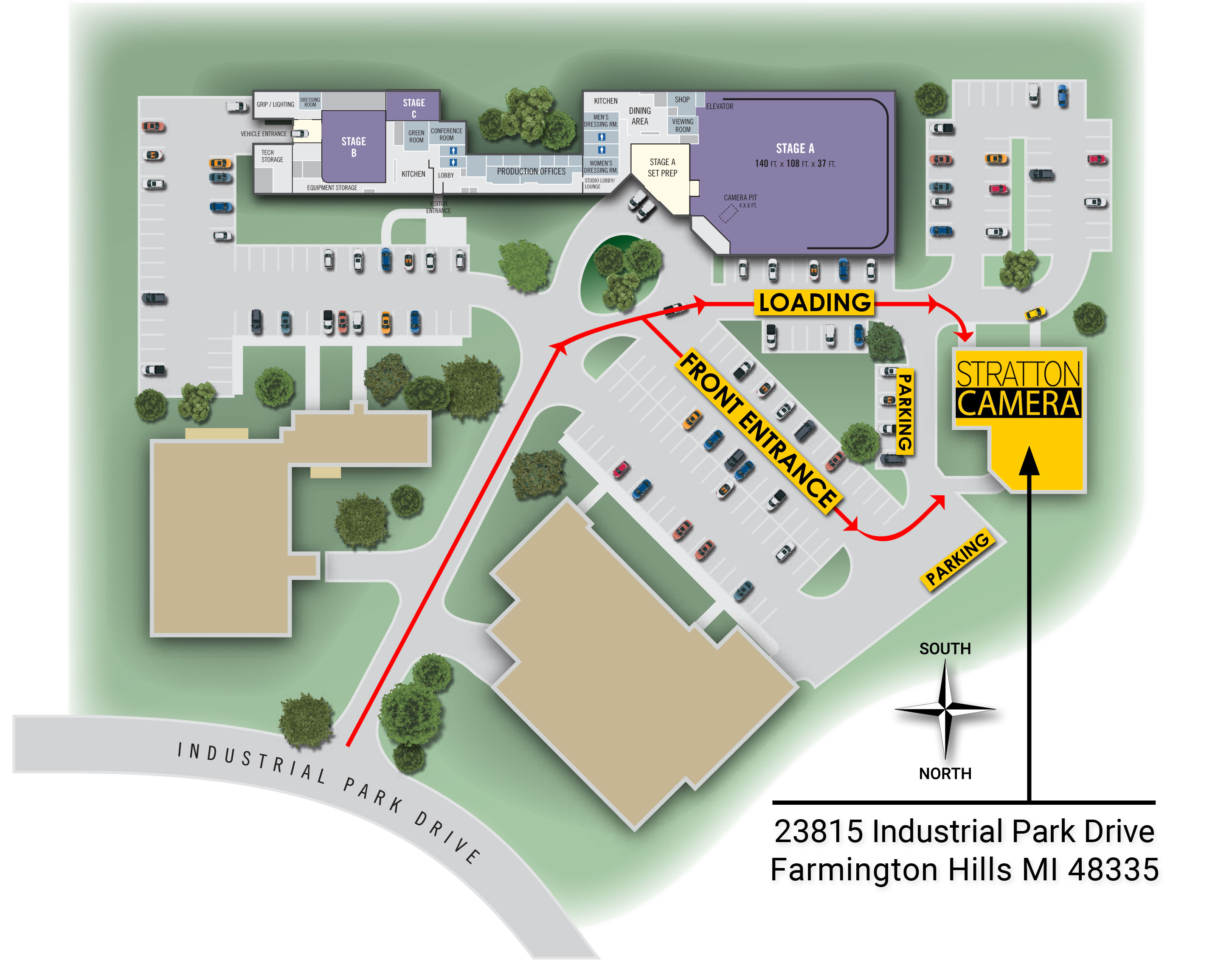 Map of Studio Center campus